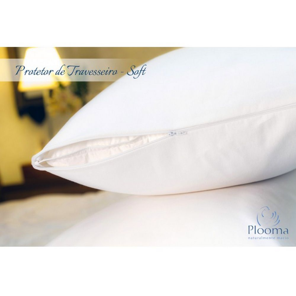 Kit 3 Capas Protetoras de Travesseiro Soft - Plooma
