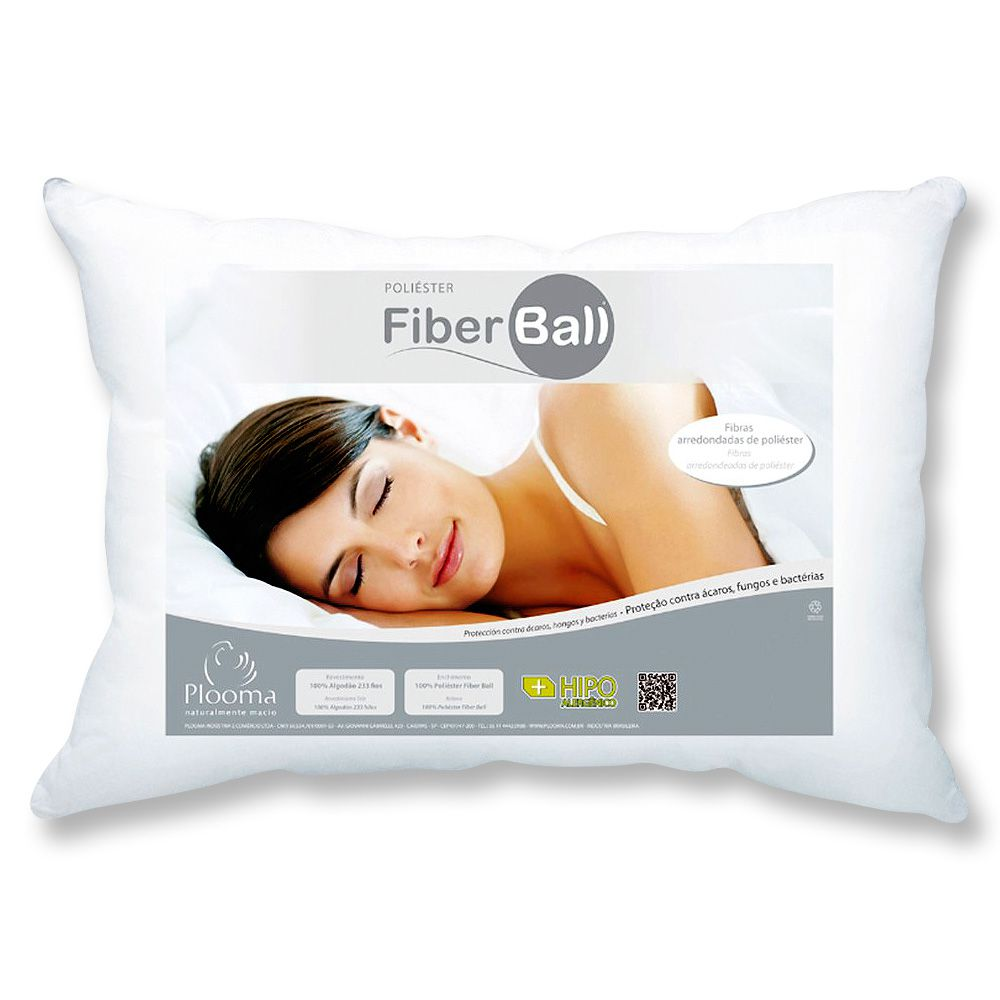 Kit 3 Travesseiros Fiber Ball 50x70 Plooma