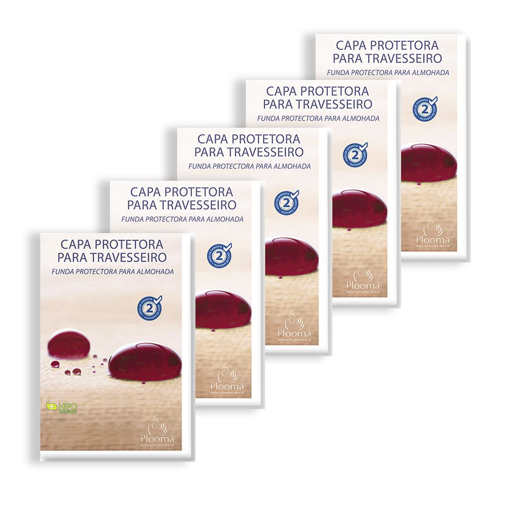 Kit 5 Capas Protetoras de Travesseiro Soft - Plooma
