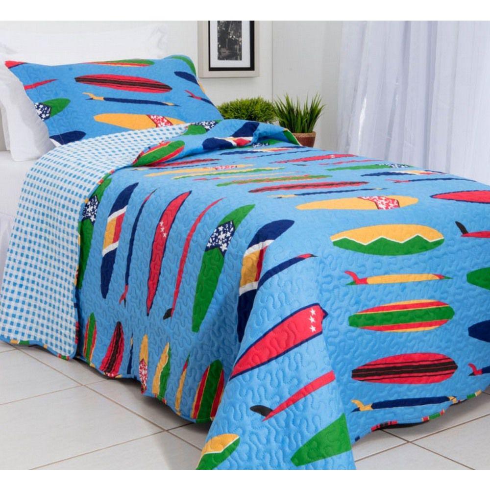 Kit Colcha Teen Surf + Travesseiro NASA NAP