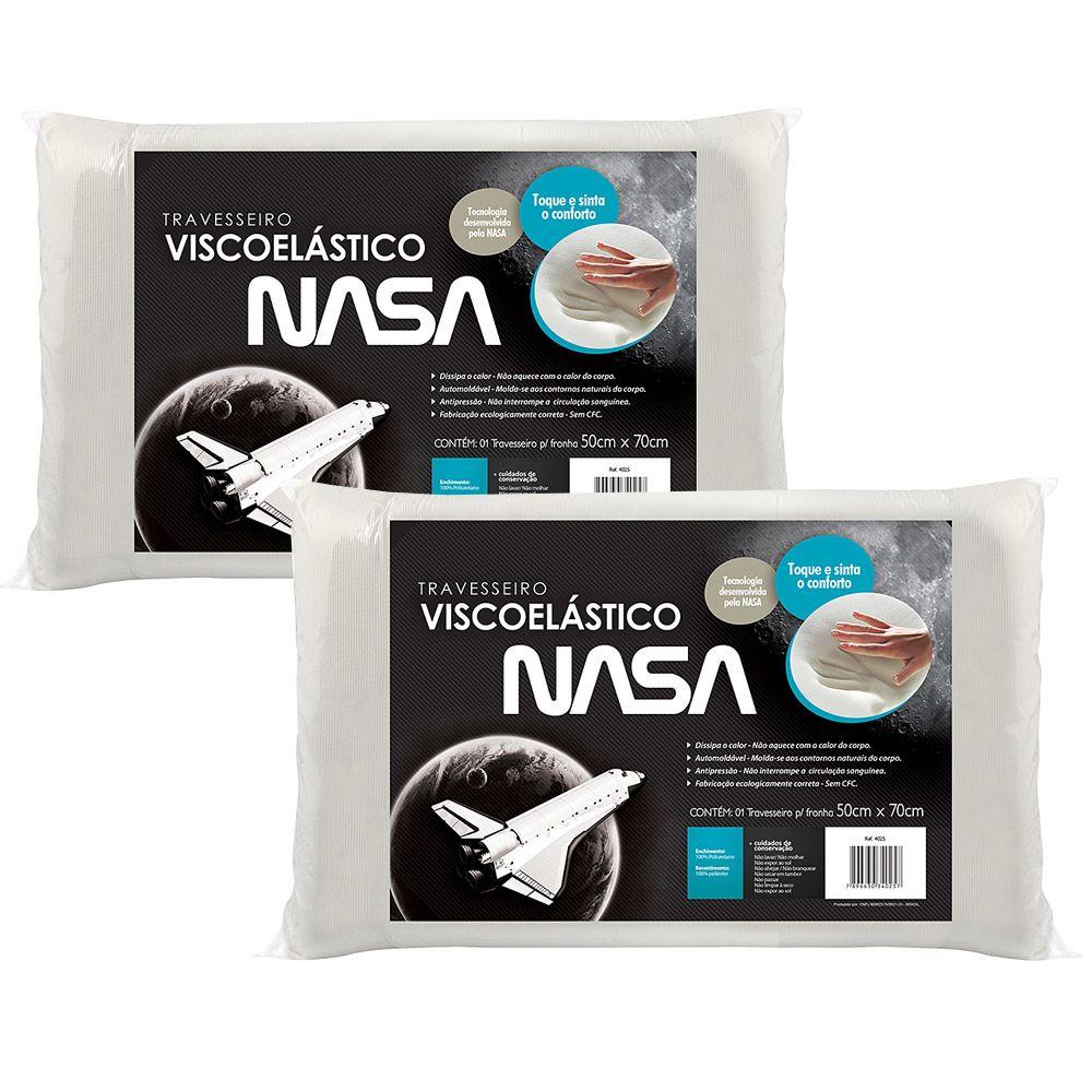 Kit Travesseiro Nasa Fibrasca 50X70 c/ 2 Peças