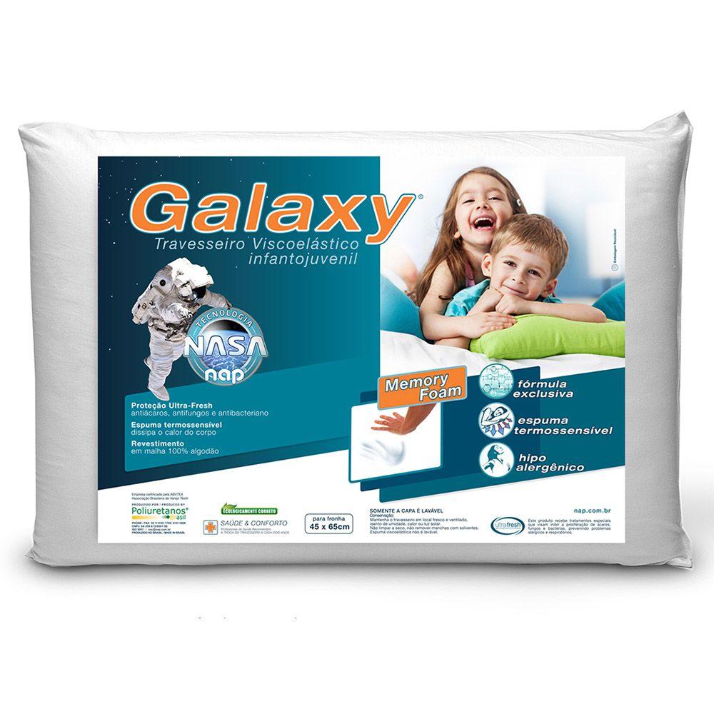 Kit Travesseiro Nasa Nap Space + Nap Galaxy Infantojuvenil