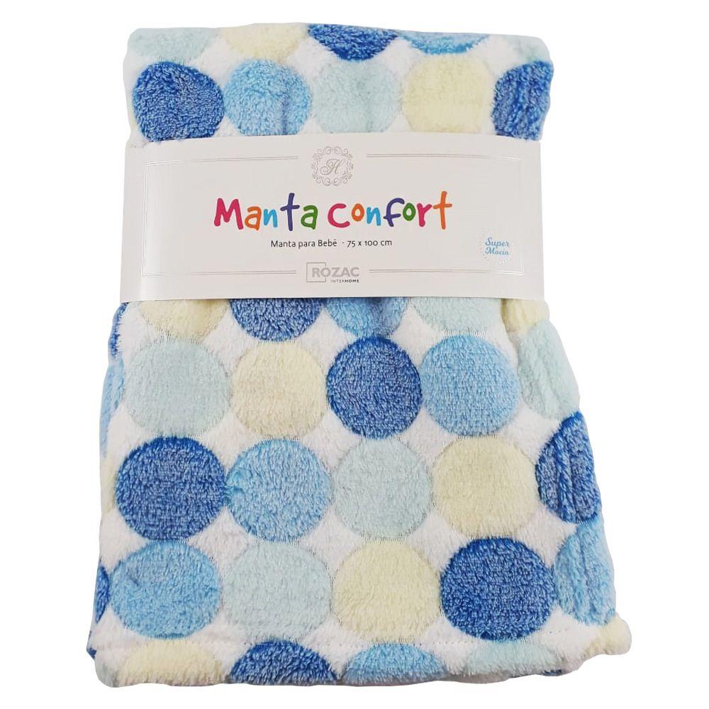 Manta Baby Confort Bolinhas 75x100cm Rozac