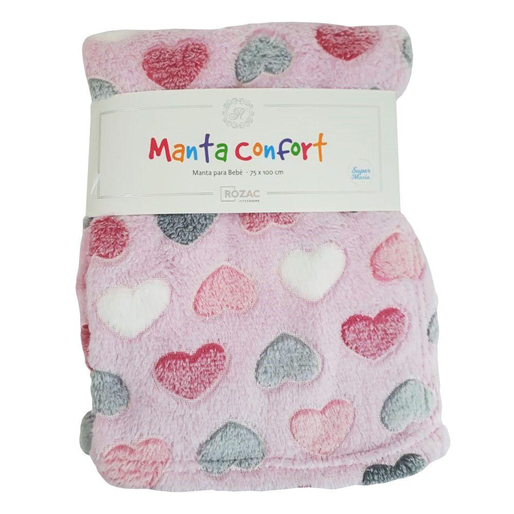 Manta Baby Confort Corações 75x100cm Rozac