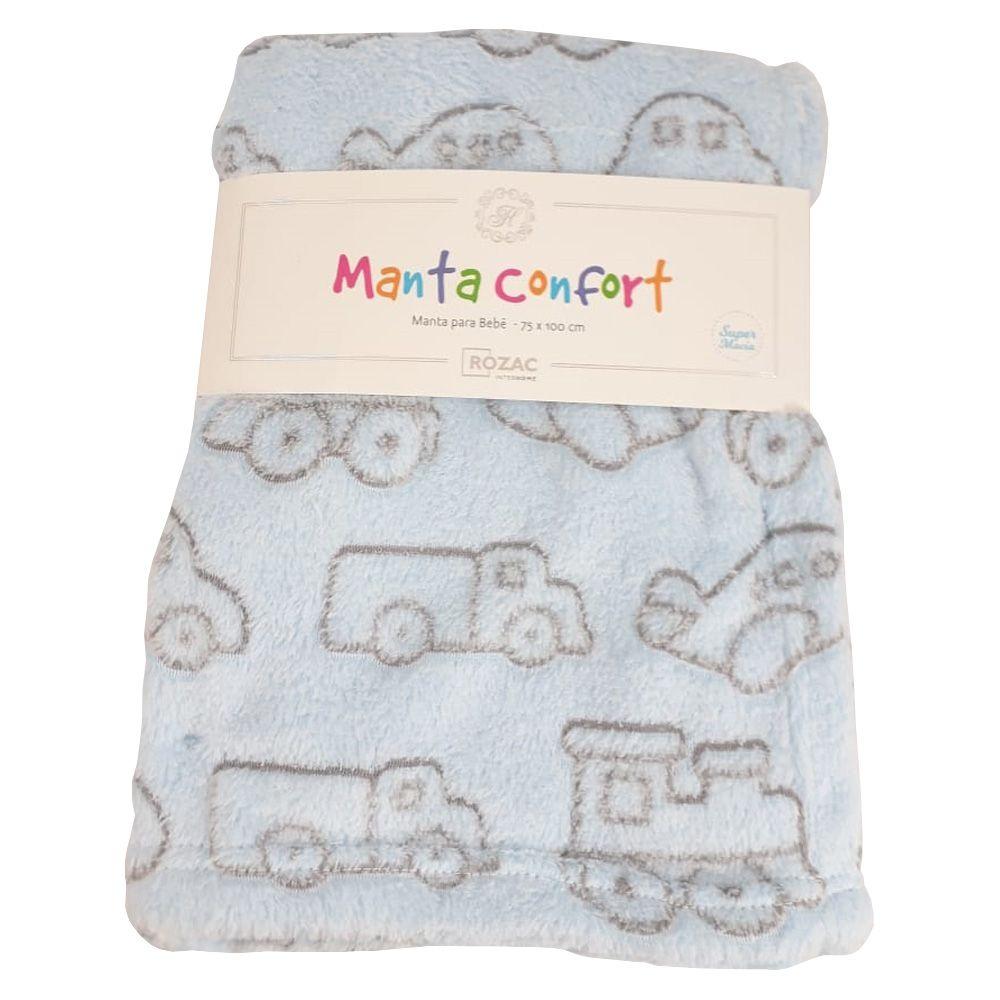 Manta Baby Confort Carrinhos Azul 75x100cm Rozac