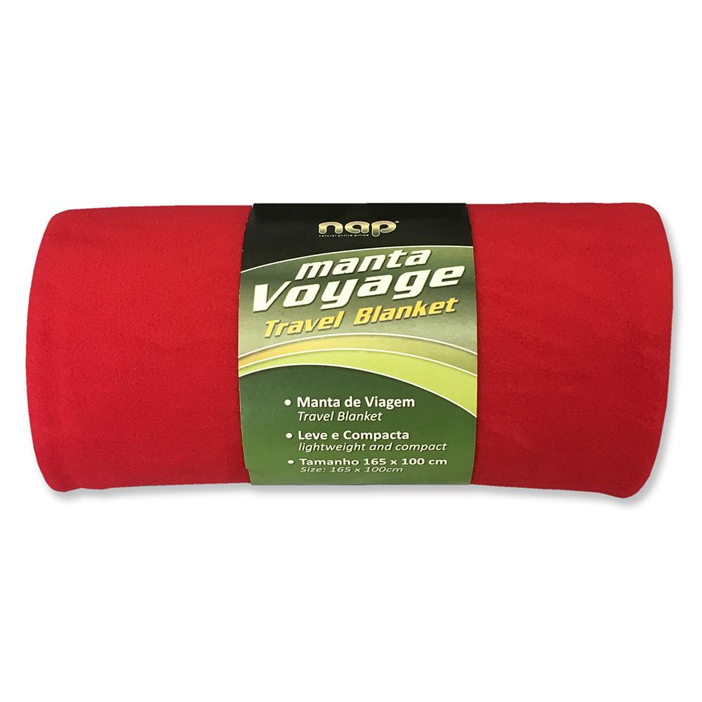 Manta de Viagem Nap 165x88 cm - Vermelho
