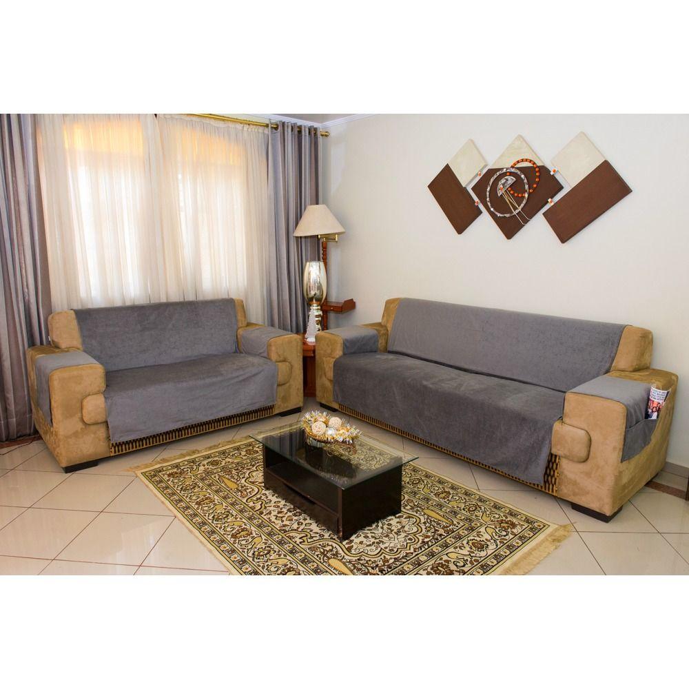 Protetor de Sofa Premium 2 e 3 lugares - King - Chumbo