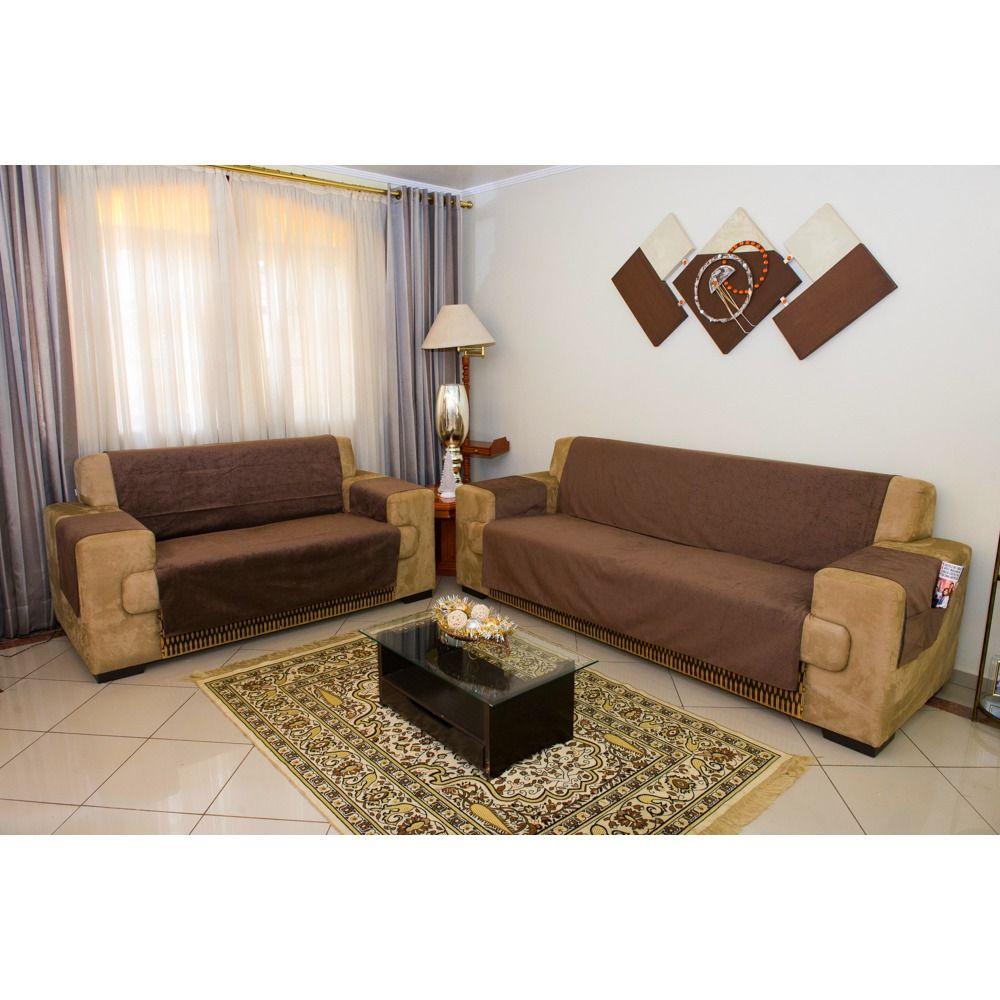 Protetor de Sofa Premium 2 e 3 lugares - King - Marrom