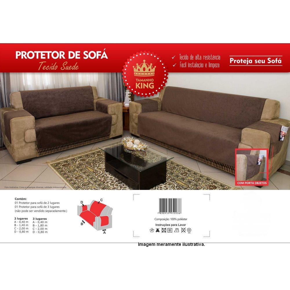 Protetor de Sofá Premium 2 e 3 lugares - King - Preto