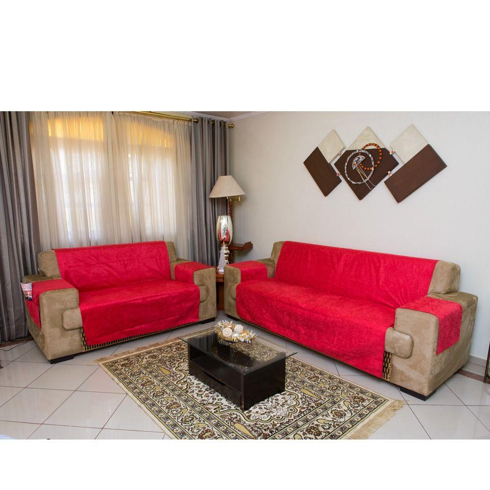 Protetor de Sofa Premium 2 e 3 lugares - King - Vermelho