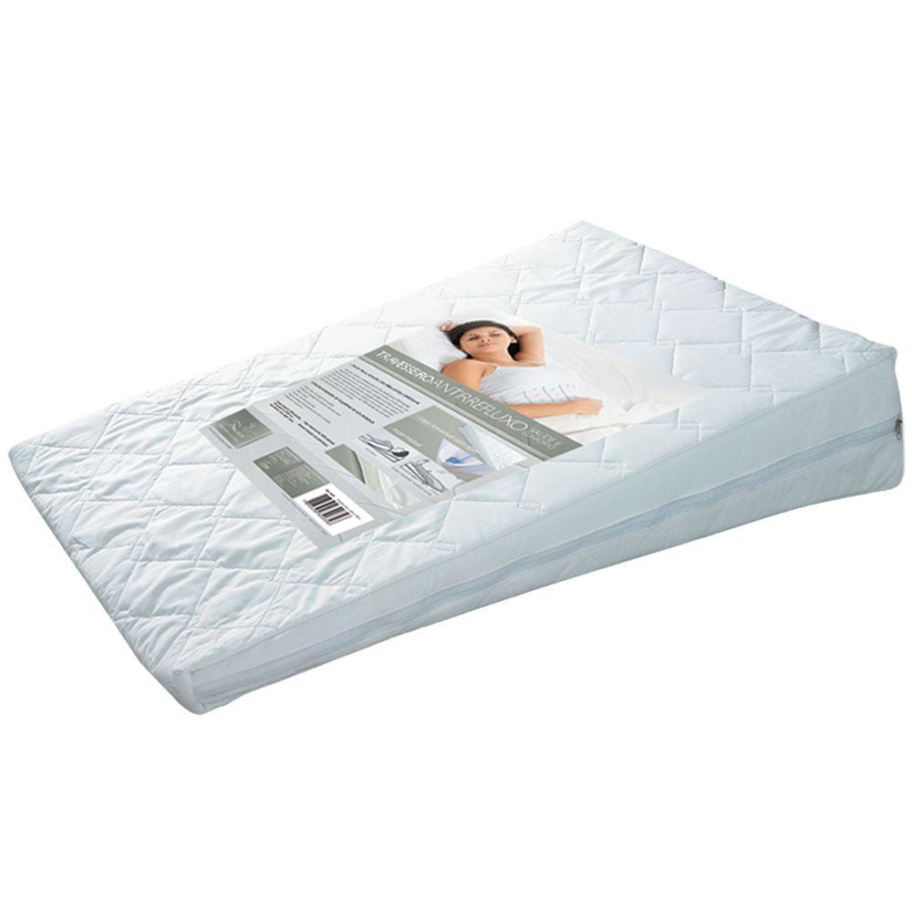 Travesseiro Anti Refluxo Adulto Terapêutico Fibrasca Capa Percal Impermeável