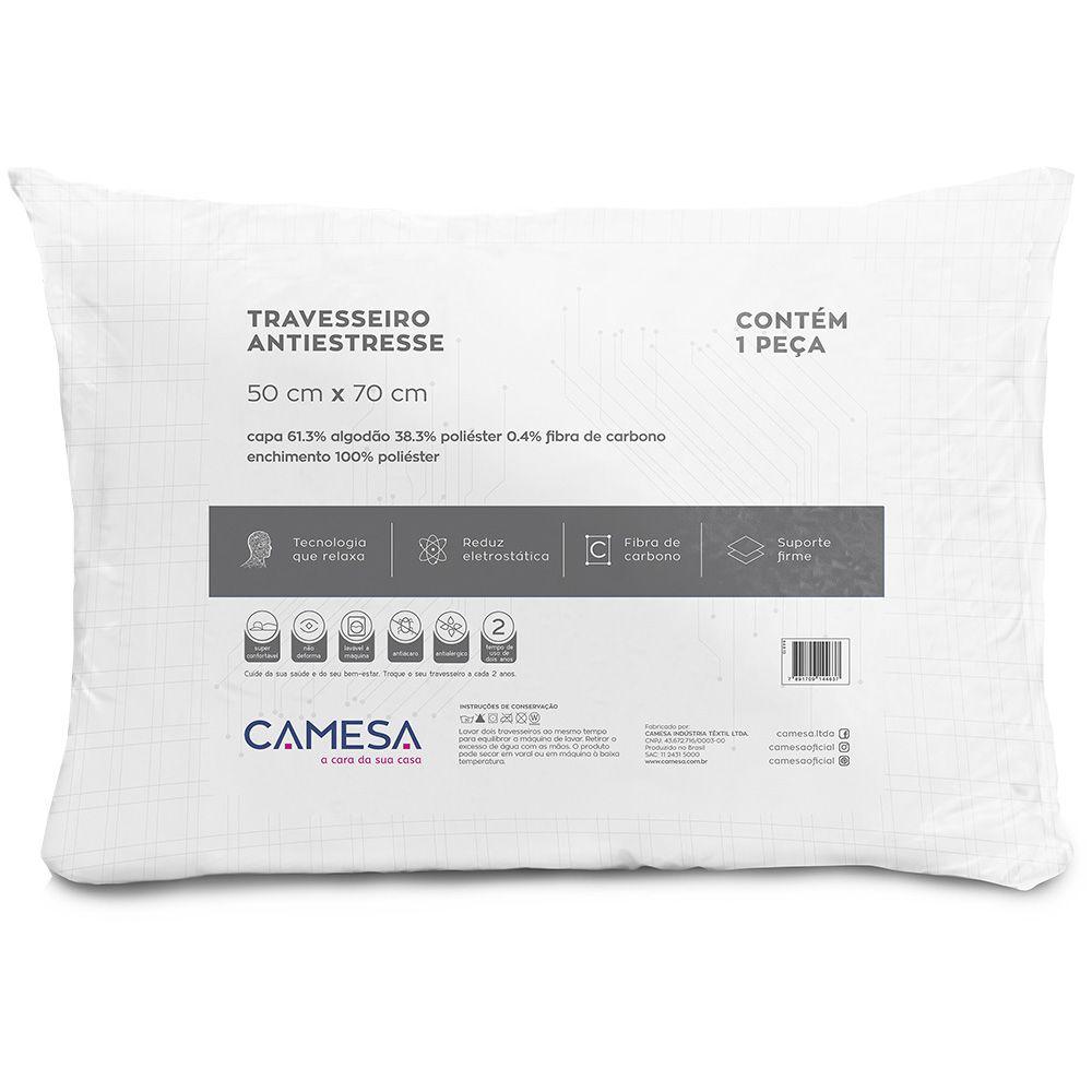 Travesseiro Anti Stress Suporte Firme 50cm x 70cm Camesa