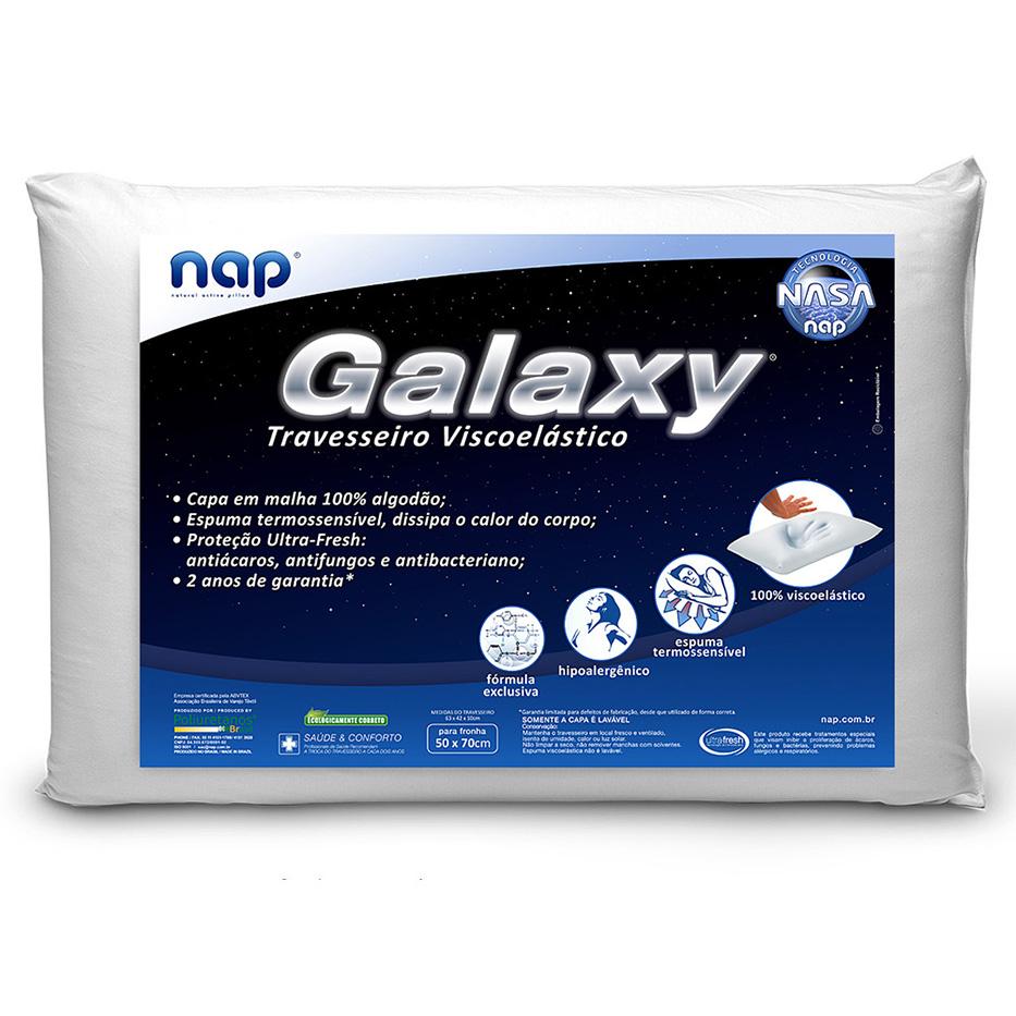 Travesseiro Nasa Nap Galaxy Viscoelástico