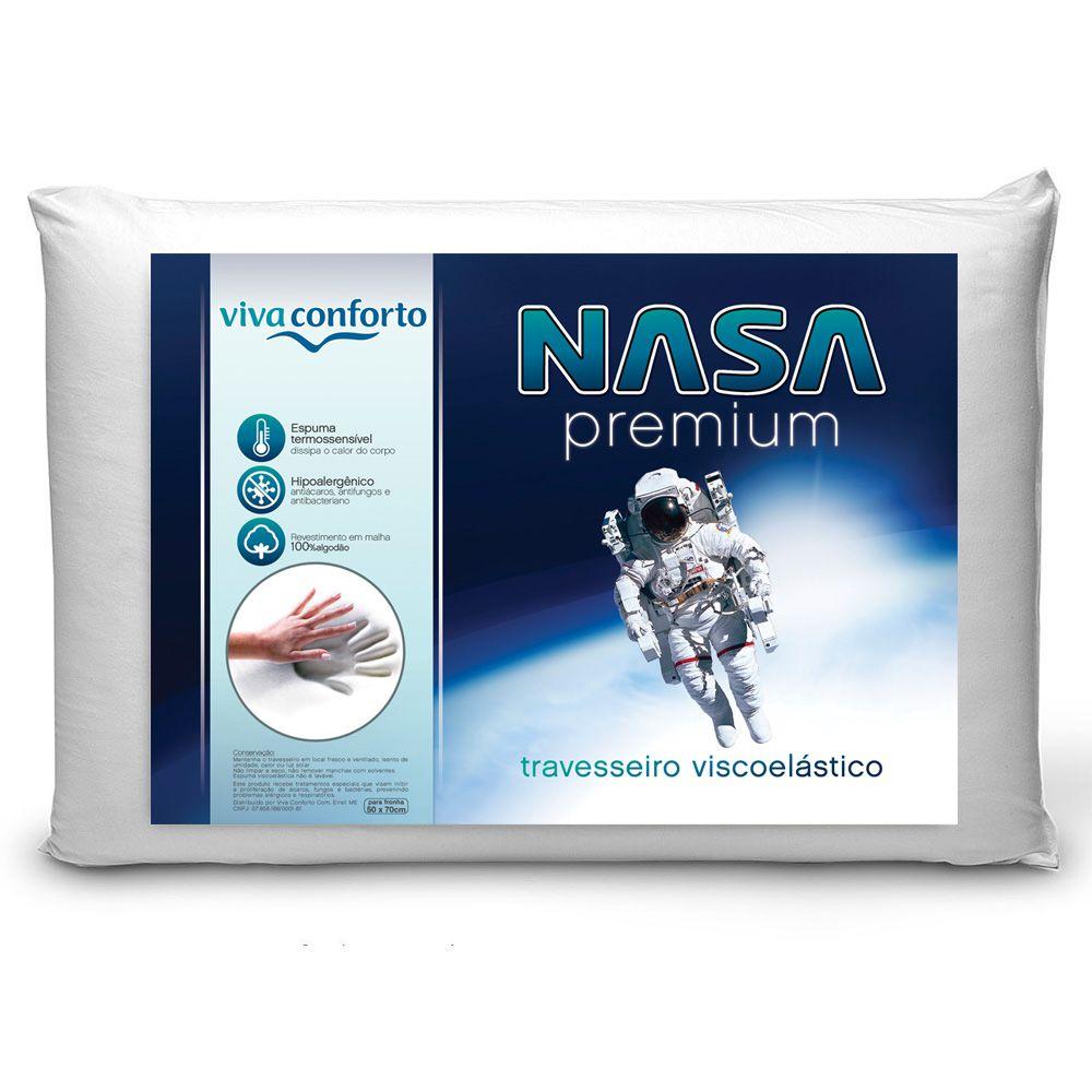 Kit 4 Travesseiros Nasa Viva Conforto