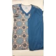 Pijama feminino Adulto Paulienne Blusa com Calça Capri Estampa Mandala C05561