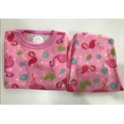 Pijama Feminino Infantil e Juvenil  Mafessoni  Flamingo Estampado em Soft Super Quente 200339