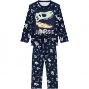 Pijama Masculino Infantil Juvenil  Kyly Dinossauro Estampa que Brilha no Escuro em algodão  207554