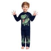 Pijama Masculino Infantil Juvenil  Kyly Dinossauro Inteiro Estampa que Brilha no Escuro em algodão  207548