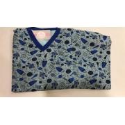Pijama Masculino Infantil Juvenil  Mafessoni  Space Blue  Moletinho Flanelado 200600