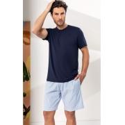 Pijama Masculino Mixte Blusa com Bermuda Listrado 1201