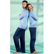 Pijama Masculino Mixte Longo Listrado Azul em Modal 9278