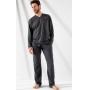 Pijama Masculino Adulto Mixte Manga Longa com calça em Algodão Especial 1025