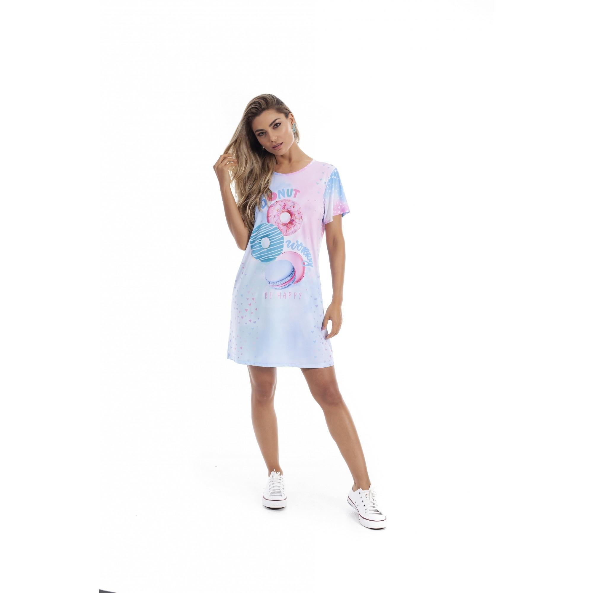 Camisola Paulienne Tie Dye Donuts 12963