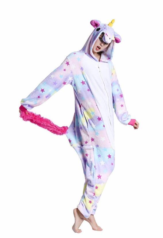 Pijama Fantasia Unicórnio Estrelado Kigurumi
