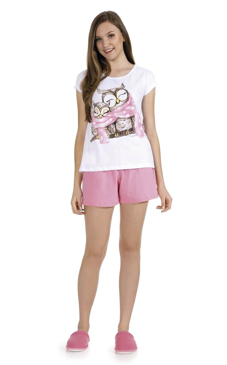 77d057de6 Pijama Feminino Adulto Lua Encantada Corujinha Short Doll - Boutique ...