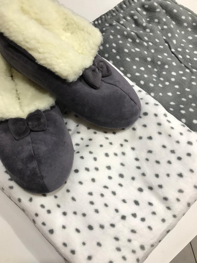 Pijama Feminino Adulto Manga Longa com Calça Poá em Soft 01