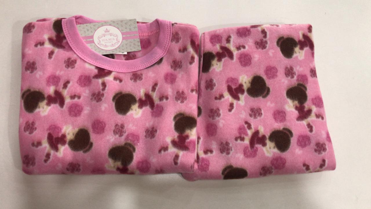 Pijama Feminino Infantil e Juvenil  Mafessoni Bailarina Estampado em Soft Super Quente 200339