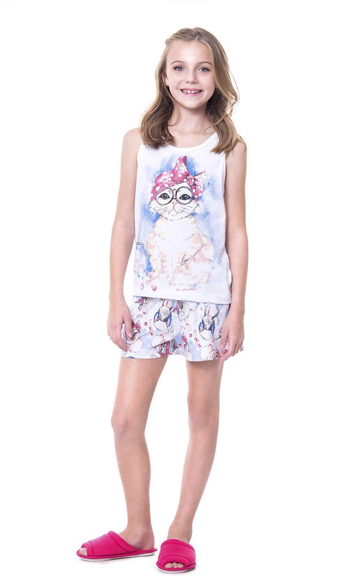 Pijama Feminino Lua Encantada Infantil Gatinha