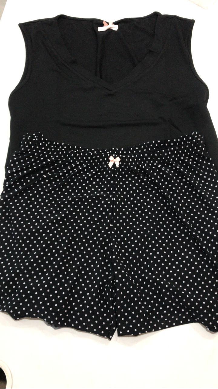Pijama Feminino Mixte Adulto de Regata com Shorts em Modal com Liganete 8672