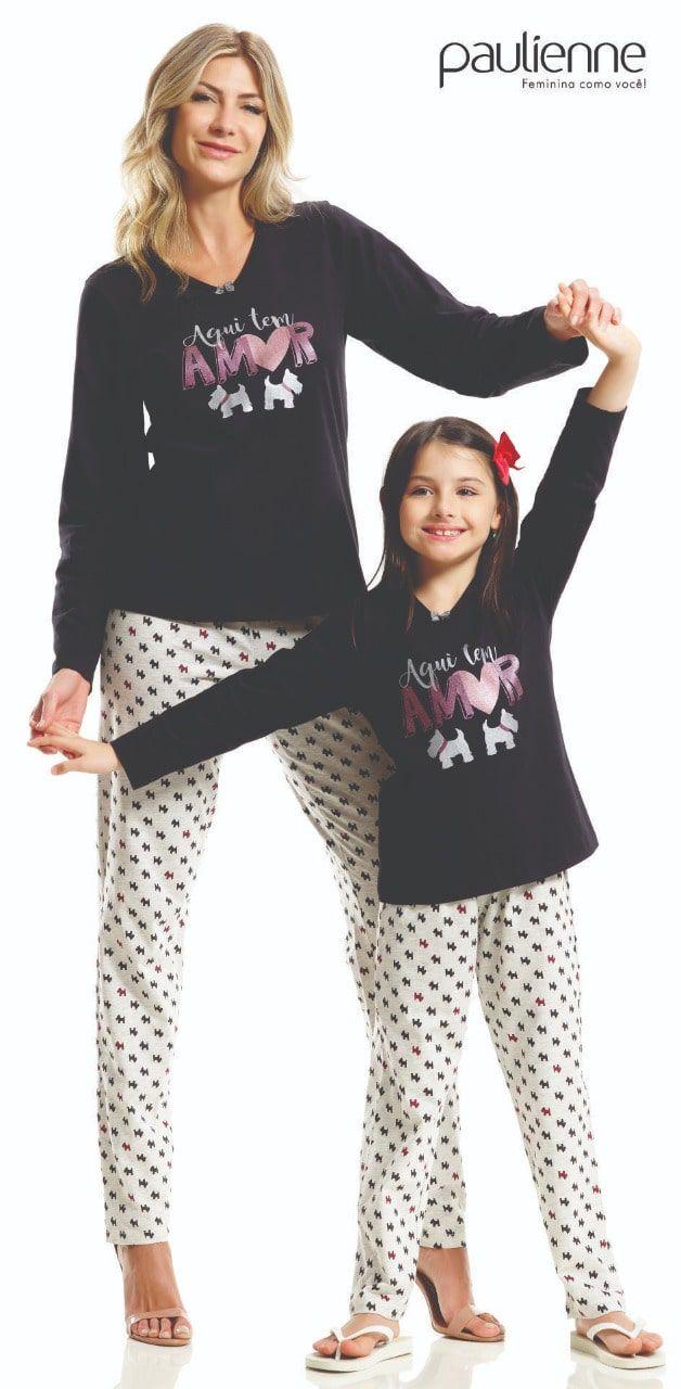 Pijama Infantil Feminino Paulienne em Algodão Dog 21862