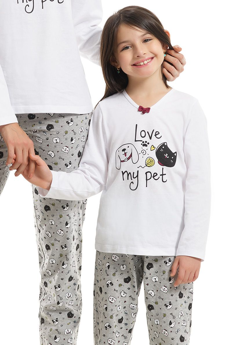 Pijama Infantil Feminino Paulienne em Algodão  Pet 21882