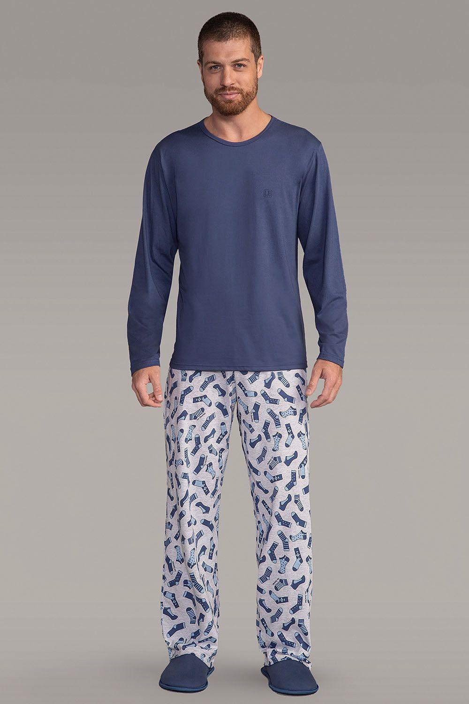 Pijama Masculino Adulto Lua Encantada Longo