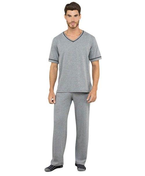 Pijama Masculino Adulto Lupo Camiseta Manga Curta com Calça em Algodão 28004