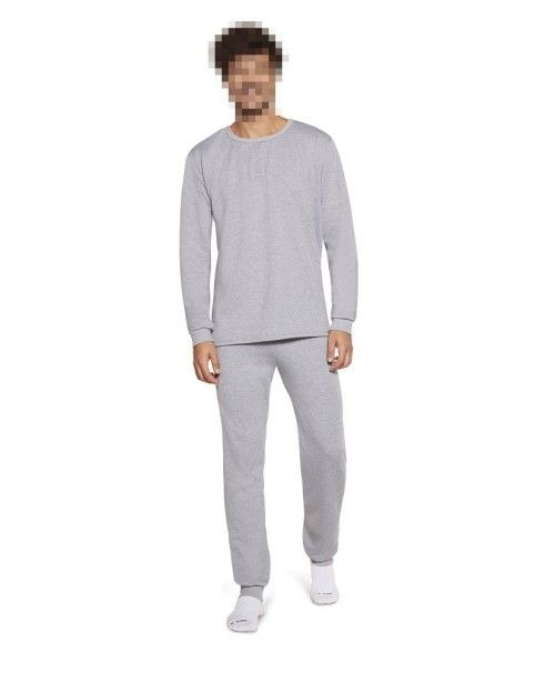 Pijama Masculino Adulto Lupo em Algodão Flanelado Cinza Mescla 28148