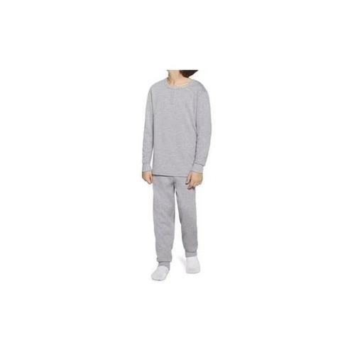 Pijama Masculino Infantil Juvenil Lupo em Algodão Flanelado Cinza Mescla 20148