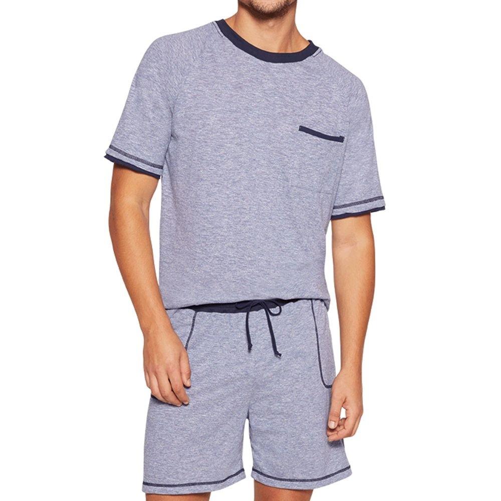 Pijama Masculino Lupo Manga Curta com Bermuda em algodao 28115