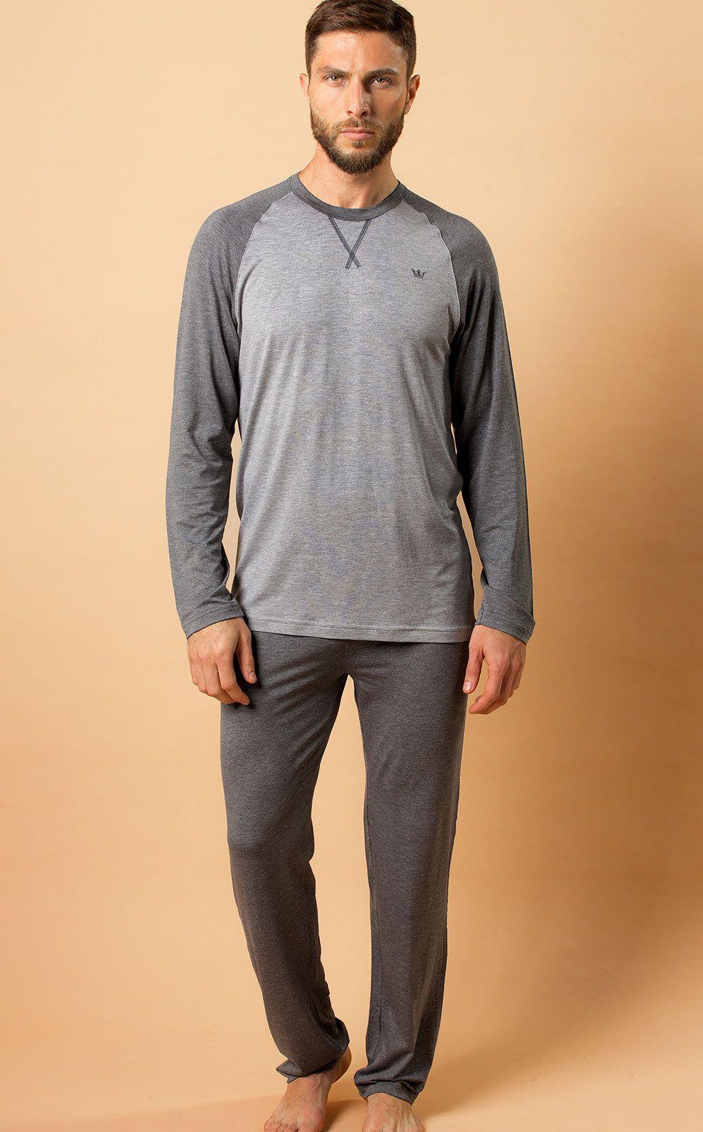 Pijama Masculino Mixte Longo com Calça em Modal 9292