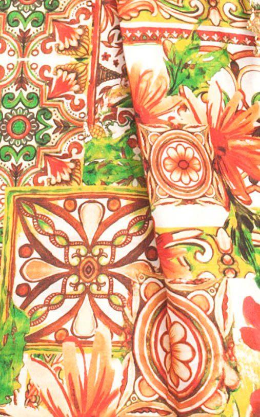 Saída De Praia Lua Morena Curta Vestido Le Ceramiche Rosso