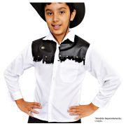 Camisa Country Branca Cowboy - Infantil