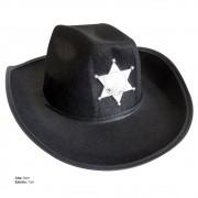 Chapéu Country com Estrela de Xerife em Feltro