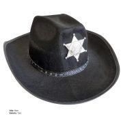 Chapéu Country com Estrela de Xerife em Feltro com Detalhe