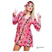 Fantasia Hippie Feminina - Adulto