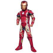 Fantasia Homem de Ferro / Iron Man DLX - Infantil