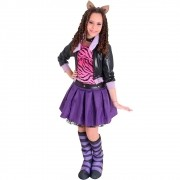 Fantasia Monster High Clawdeen Wolf Luxo Infantil