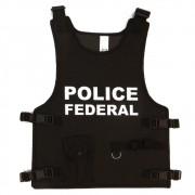 Kit Policial Adulto - Colete, Cassetete e Distintivo