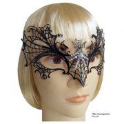 Máscara de Carnaval Viúva Negra com Strass - Adulto